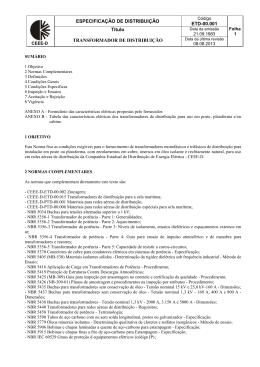 ETD-00.001 - Transformador de Distribuição
