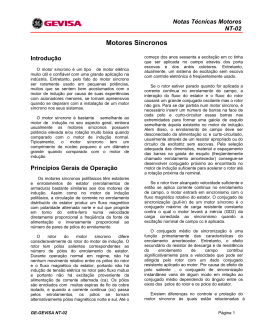 Motores Síncronos - NT02 - GE Sistemas Industriais
