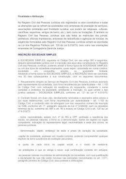 Registro Civil das Pessoas Jurídicas - ieptb-ba