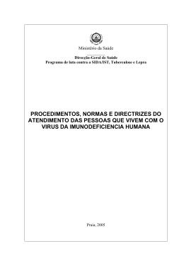 PROCEDIMENTOS, NORMAS E DIRECTRIZES DO ATENDIMENTO