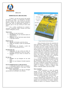 AULA 14 HIDROGRAFIA BRASILEIRA