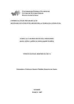Vinicius Silva-Disse.. - Biblioteca Digital de Teses e Dissertações
