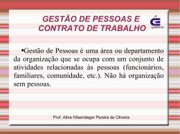 GESTÃO DE PESSOAS E CONTRATO DE TRABALHO - Wiki do IF-SC