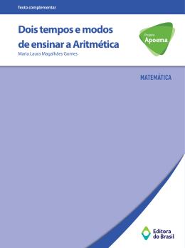 Dois tempos e modos de ensinar a Aritmética