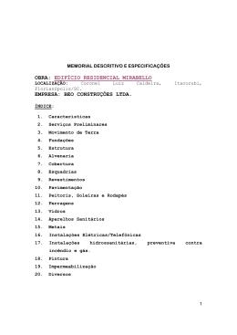 obra: edifício residencial mirabello empresa: beo construções ltda.