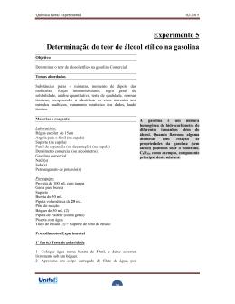 Determinação do teor de álcool etílico na gasolina - Unifal-MG