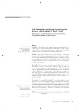 Perfil epidemiológico, sociodemográfico e psicossocial de
