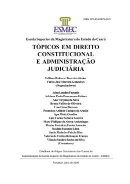 tópicos em direito constitucional e administração judiciária