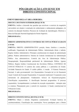 Ementa - Direito Constitucional