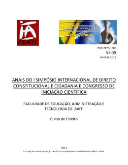 Versão Digitalizada - Faculdade de Educação, Administração e