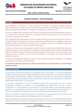 Padrão de respostas Direito Constitucional.