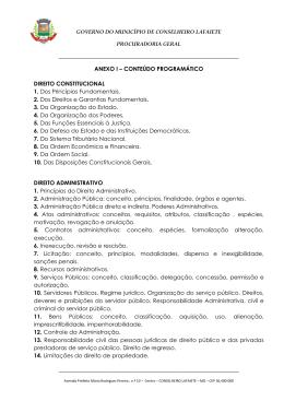Anexo I do Edital VII Processo Seletivo para Estágio Remunerado