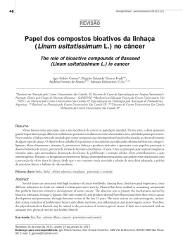 Papel dos compostos bioativos da linhaça (Linum usitatissimum L