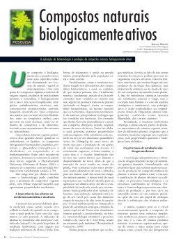 Compostos naturais biologicamente ativos