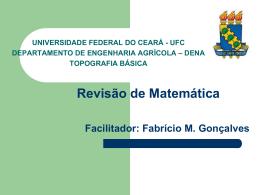 Aula 2: Revisão de Matemática - Universidade Federal do Ceará