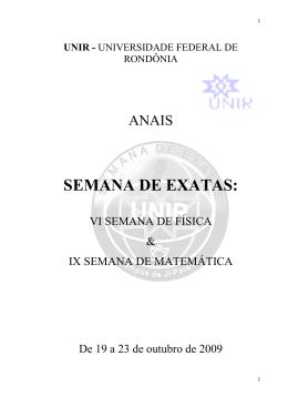 SE EMA ANA A DE E EX XAT TAS: : - Departamento de Matemática