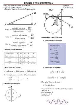 revisão de tr revisão de trigonometria