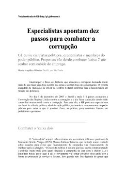 medidas para combater a corrupçao