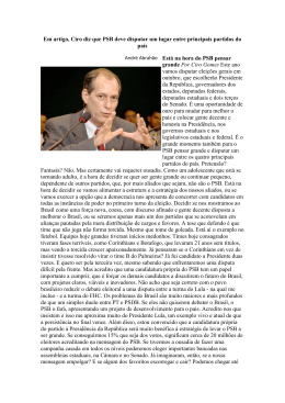 Em artigo, Ciro diz que PSB deve disputar um lugar entre principais
