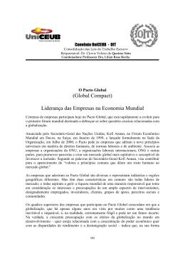 (Global Compact) Liderança das Empresas na Economia Mundial