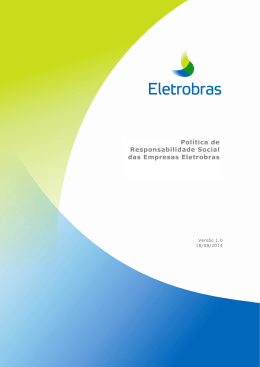 Política de Responsabilidade Social das Empresas Eletrobras