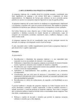 Carta Europeia das Pequenas Empresas