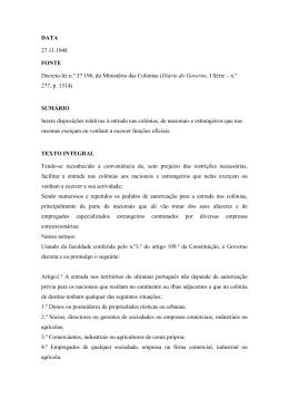 Decreto-lei n.º 37 196, do Ministério das Colónias