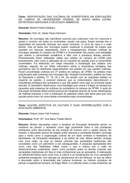 Título: IDENTIFICAÇÃO DAS COLÔNIAS DE