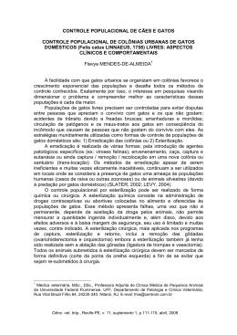 CONTROLE POPULACIONAL DE CÃES E GATOS CONTROLE