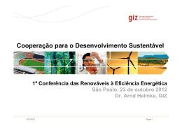 Cooperação para o Desenvolvimento Sustentável