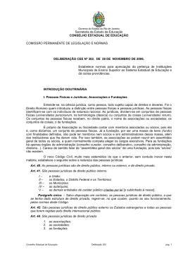 Deliberação nº 302 - cee rj - Governo do Estado do Rio de Janeiro