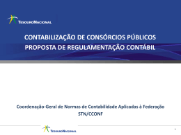 CONSÓRCIOS PÚBLICOS - Tesouro Nacional
