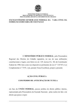 EXCELENTÍSSIMO SENHOR JUIZ FEDERAL DA VARA
