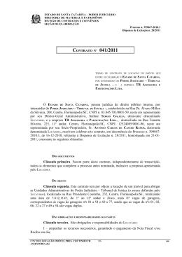 SANTA CATARINA, pessoa jurídica de direito público interno, por