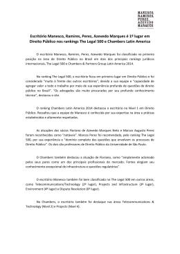 Escritório Manesco, Ramires, Perez, Azevedo Marques é 1º lugar