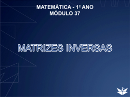 MATRIZES INVERSAS