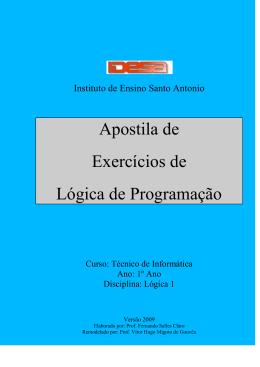 Lista de Exercícios Lógica 1