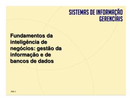 Gestão da Informação e Banco de Dados