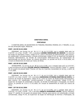 DIRETORIA-GERAL PORTARIAS O DIRETOR