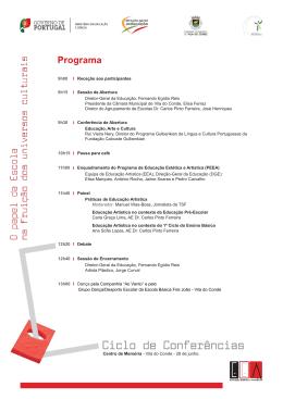 Programa - Câmara Municipal de Vila do Conde