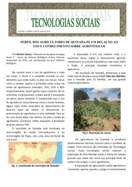 perfil dos agricultores de quixaba