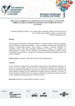 educação ambiental e assistência técnica rural: um estudo