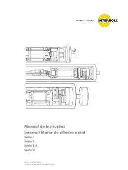 Manual de instruções Interroll Motor de cilindro axial