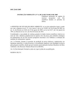 Instrução Normativa MMA nº 4