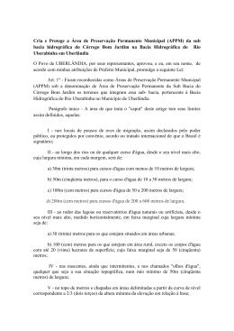 Proposta de Projeto de Lei de Iniciativa Popular. Trata