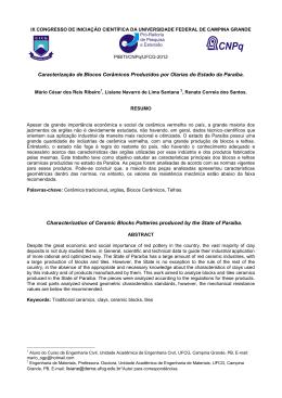 caracterização de blocos cerâmicos produzidos