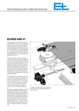 ELFEED KRS 47 Alimentadores para máquinas