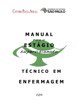 Manual para o Estágio Supervisionado