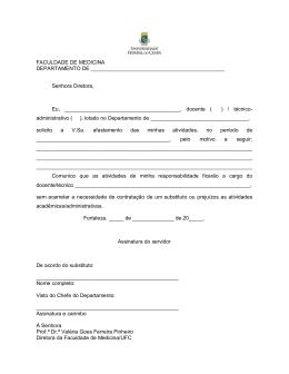 Formulário preenchível de afastamento para docente e técnico com