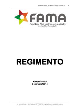 REGIMENTO - Faculdade FAMA